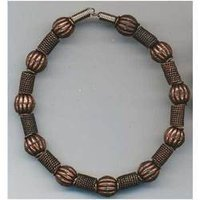 Oxidised Copper Beads Bracelets
