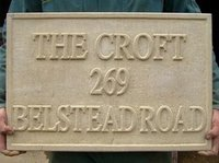 Sand Stone Name Plate With Chisel