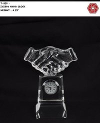 Crystal Hand Clock