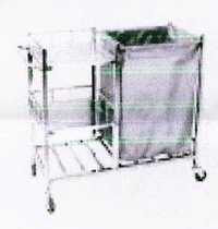 Laundry Linen Trolley With 3 Selves