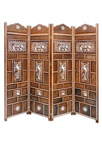 Wooden Inlaid Screen/Room Divider