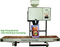 Silica Sand Bag Filling Machine With Stitching And Conveying