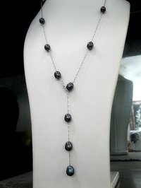 925 Silver And Pearl Necklace