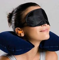 Travel Sleeping Pillow Air Inflatable Neck Pillow U-Shaped Pillow With Ear Plug Eye Mask Free Shipping