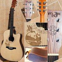 """41"""" Acoustic Cutaway Guitar"""