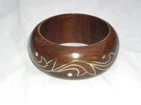 Wooden Brass Inlay Bangle