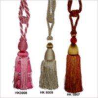 Hand Embroidered Tassel Earrings