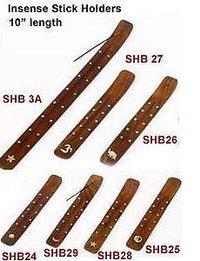 """Wooden Incense Stick Holder- 10"""""""