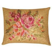 Embroidered Floral Printed Cushion Cover