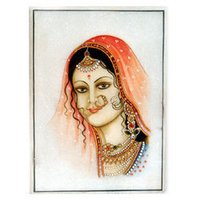 Marble Painting (Lady)
