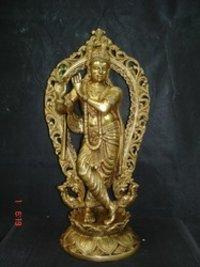 Brass Krishn Statue