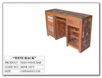 Colorful Handcrafted Indian Wine Bar Counter