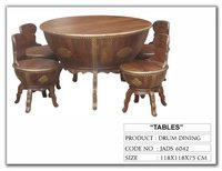 Indian Drum Dinning Room Table