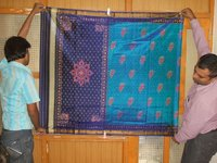 Patola Blue Design Sarees