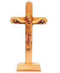Wooden Holly Cross