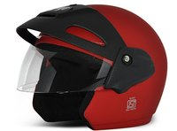 Open Face Helmet (Cruiser Dull Red)