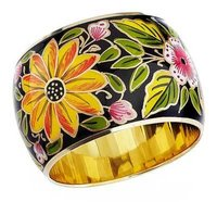 Hand Painted Brass Bangle