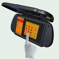 7 Inch Rear View Mirror TFT LCD Monitor With Cover