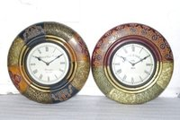 Antique Wall Clock With Hand Painting