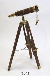 Nautical Brass Telescope on Tripod