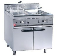 Gas 2-Tank Fryer (2-Basket) with Cabinet