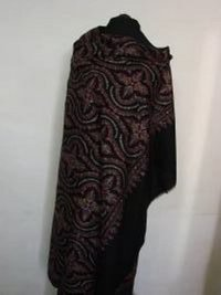 Pashmina Black With Hand Embroided Shawl
