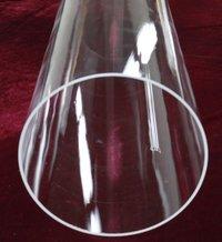 Large Clear Fused Quartz Tube
