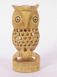 Wooden Handicraft Owl