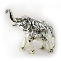 Silver Plated Elephant Statues