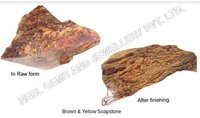 Brown And Yellow Soapstone