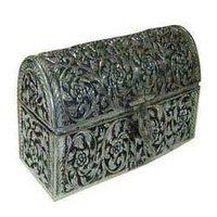 Oxidized Silver Jewelery Box
