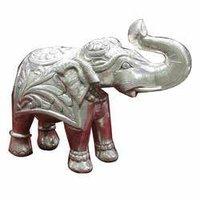 Silver Elephant Statue