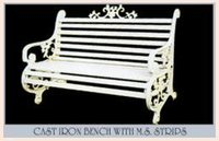 Cast Iron Bench With M.S. Strip