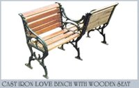 Cast Iron Love Bench