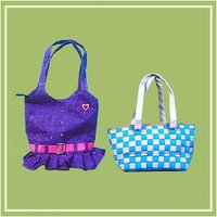 Jute Zari Work Bag