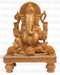 Wooden Chowki Ganesha