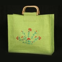 Embroidery Color Jute Bags