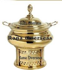 Brass Round Chafing Dish