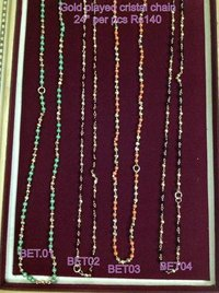 Gold Plated Crystal Chain 24