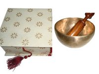 Singing Bowl With Handmade Paper Gift Box