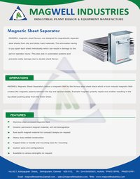 Magnetic Sheet Separators