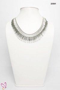 Silver Metallic Necklace
