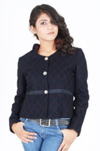 Navy Quilted Hoody Jacket
