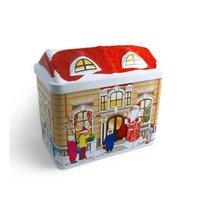 Decorating Christmas Cookie Tin Box