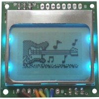 Monocrome Graphics Spi Display Module With Pcb