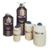 Cryocan (Dewars) Of Liquid Nitrogen