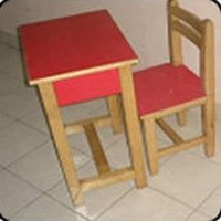 Kids Wooden Study Chairs And Tables
