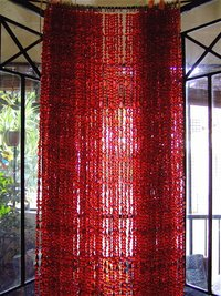 Transparent Red Acrylic Crystal Bead Curtains At Best