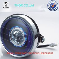 YBR125 Motorcycle Headlight With Angel Eyes