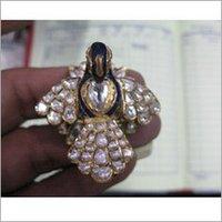 Jadau Peacock Ring In Gold Raj-11
